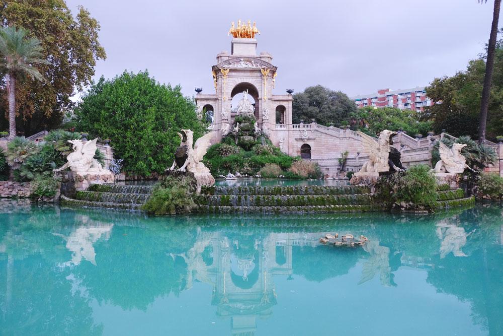 Gorgeous fountain at Parc de la Ciutadella