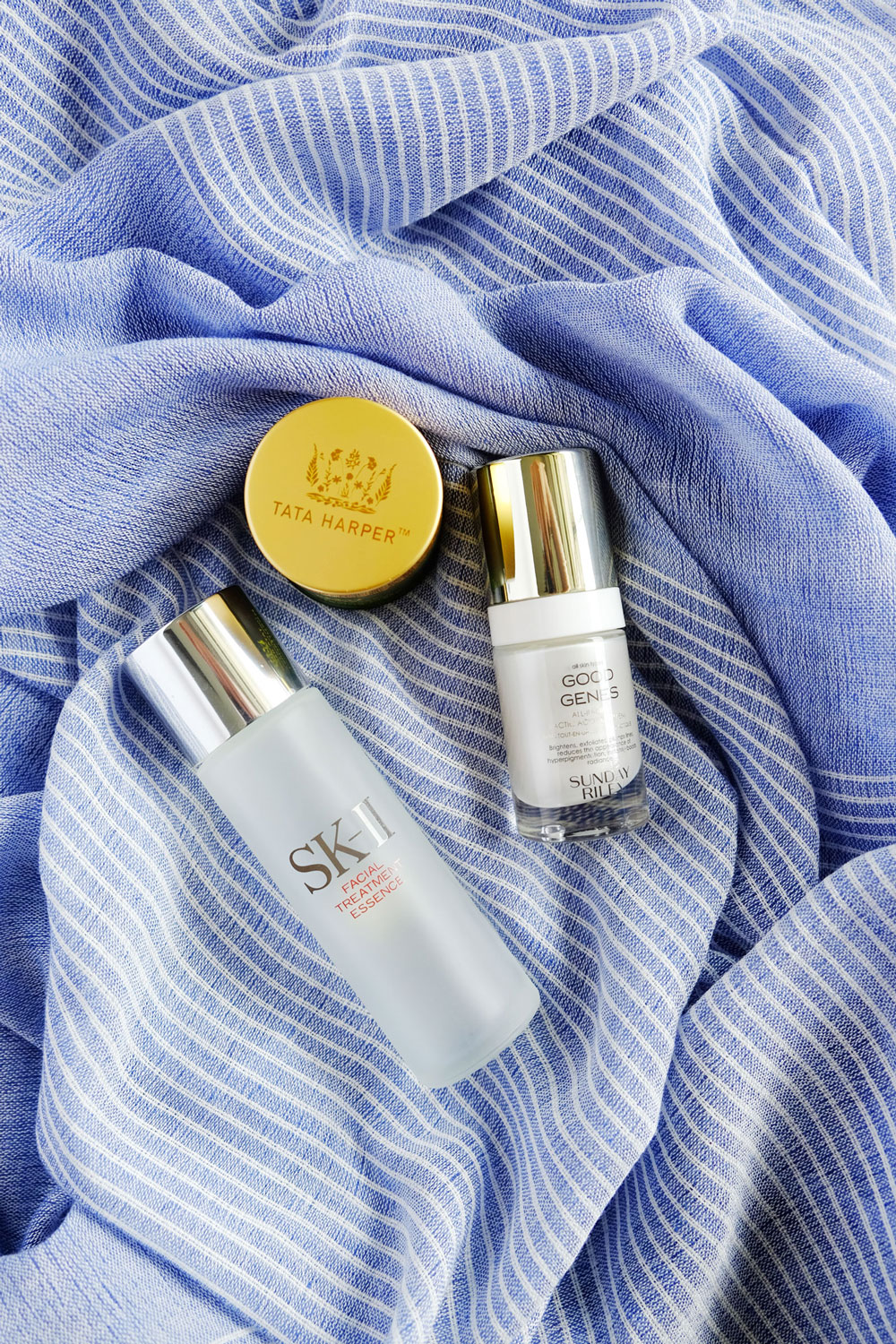 A review of three holy grail beauty products that did not work for me | The Good Living Blog #skII #sundayriley #goodgenes #tataharper #beautyreviews