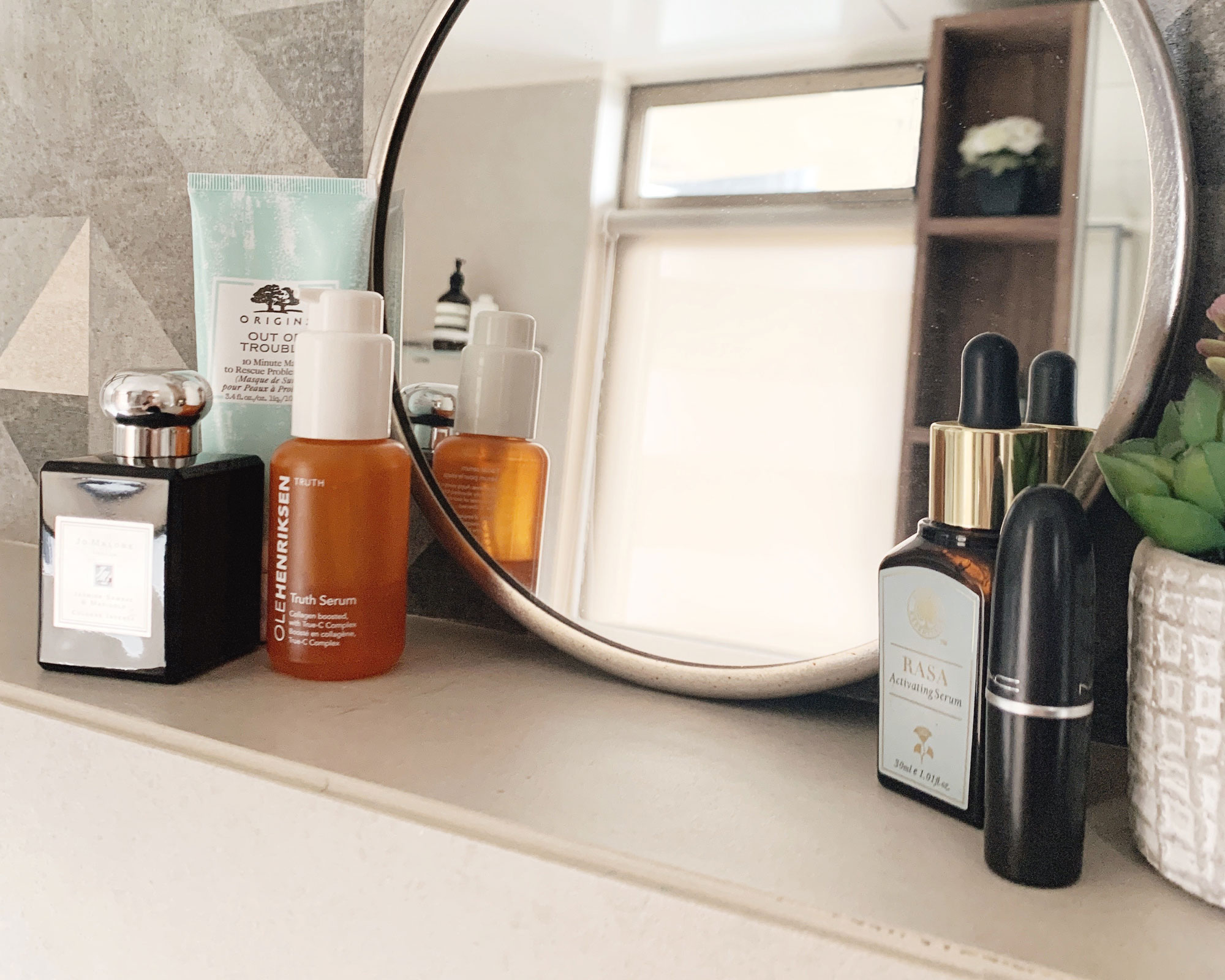 Beauty products worth repurchasing, including Olehenriksen's Truth Serum. It's the best Vitamin C I've ever tried!!!