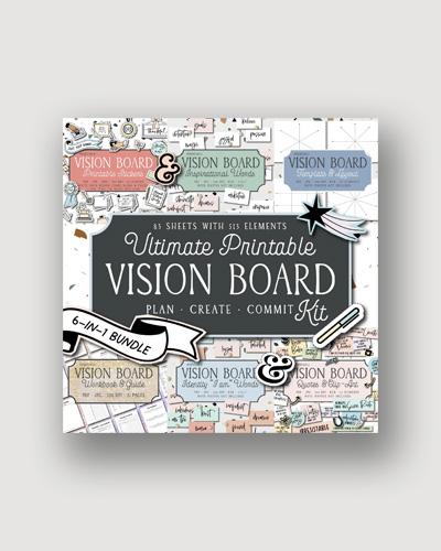 A digital vision board kit