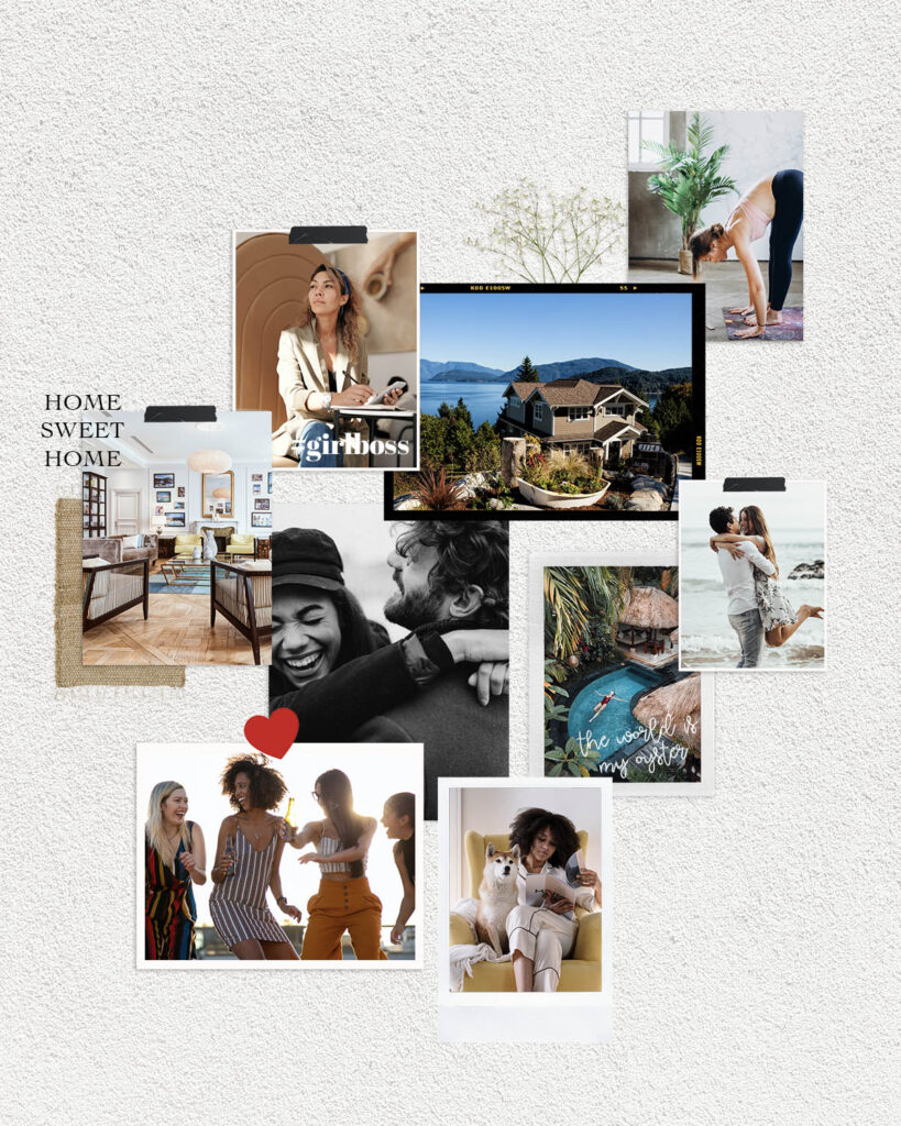 A step by step guide on how to make a vision board